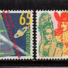 Sellos: HOLANDA 1315/16** - AÑO 1988 - TRICENTENARIO DE LA LLEGADA DE GUILLERMO III DE ORANGE A INGLATERRA. Lote 182395417