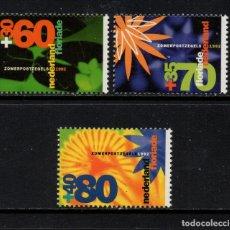 Sellos: HOLANDA 1400/02** - AÑO 1992 - FLORIDA 92, EXPOSICION HORTICOLA. Lote 182869108