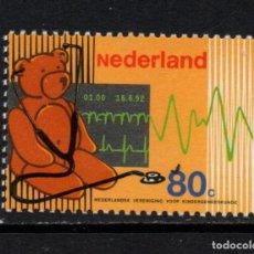 Sellos: HOLANDA 1408** - AÑO 1992 - MEDICINA - CENTENARIO DE LA ASOCIACIÓN NACIONAL DE PEDIATRIA. Lote 182869218