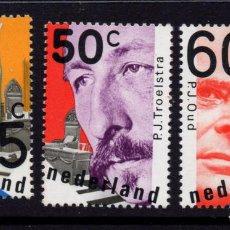 Sellos: HOLANDA 1122/24** - AÑO 1980 - PERSONALIDADES - POLITICOS HOLANDESES. Lote 183921133