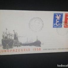 Sellos: SOBRE PRIMER DIA. EUROPAZEGELS 1958. NEDERLAND. . Lote 185928788