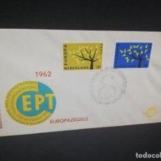 Sellos: SOBRE PRIMER DIA. EUROPAZEGELS 1962. NEDERLAND. . Lote 185928816
