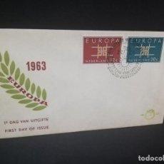 Sellos: SOBRE PRIMER DIA. EUROPA. NEDERLAND. 1963.. Lote 185928842