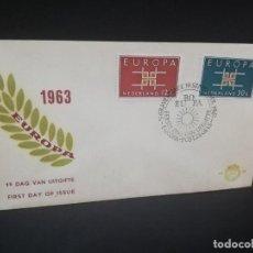 Sellos: SOBRE PRIMER DIA. EUROPA. NEDERLAND. 1963.. Lote 185928917