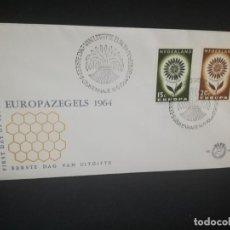 Sellos: SOBRE PRIMER DIA. EUROPAZEGELS 1964. NEDERLAND.. Lote 185929001