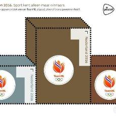 Sellos: NETHERLANDS 2016 - OLYMPISCHE SPEELEN SOUVENIR SHEET MNH. Lote 187396450