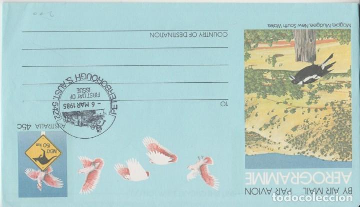 LOTE B AEROGRAMA AUSTRALIA MATA SELLOS FERROCARRIL (Sellos - Extranjero - Europa - Holanda)