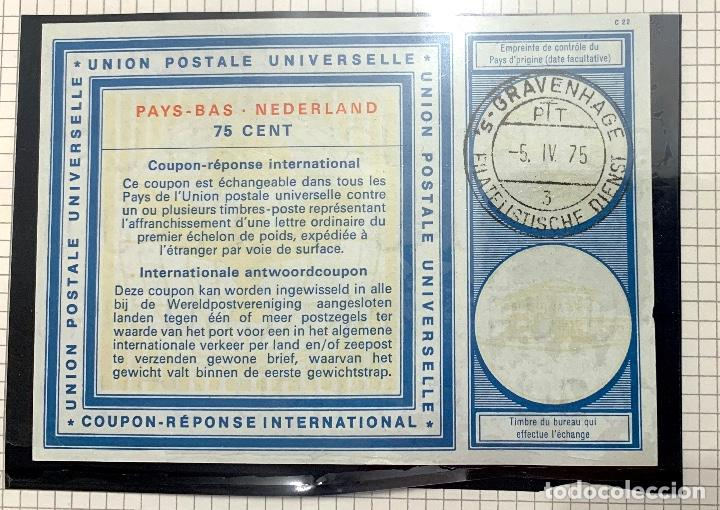 Sellos: NETHERLANDS -- International Reply Coupon IRC. 75 CENT - Foto 1 - 192074091