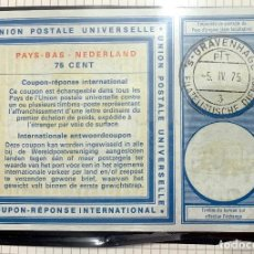 Sellos: NETHERLANDS -- INTERNATIONAL REPLY COUPON IRC. 75 CENT. Lote 192074091