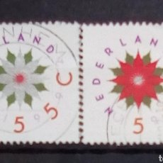 Sellos: HOLANDA NAVIDAD SERIE DE SELLOS USADOS. Lote 194287281