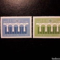 Sellos: HOLANDA. YVERT 1221/2 SERIE COMPLETA NUEVA ***. EUROPA CEPT. PUENTES. Lote 194960967