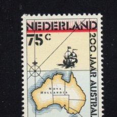 Sellos: HOLANDA 1320** - AÑO 1988 - BICENTENARIO DE LOS PRIMEROS COLONOS EN AUSTRALIA. Lote 195307952