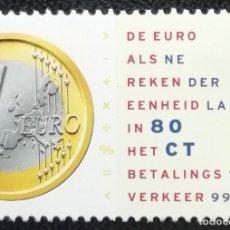 Timbres: 1999. HOLANDA. 1677. MONEDA DE 1,00 EURO. SERIE COMPLETA. NUEVO.. Lote 195560225