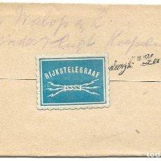 Sellos: TELEGRAMA DE ROTTERDAM A NOORDWIJK AAN ZEE AÑO 1916 - PRIMERA GUERRA MUNDIAL - SELLO RIJKSTELEGRAAF. Lote 196287325