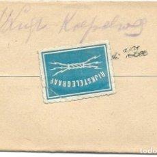 Sellos: TELEGRAMA DE ROTTERDAM A NOORDWIJK AAN ZEE AÑO 1916 - PRIMERA GUERRA MUNDIAL - SELLO RIJKSTELEGRAAF. Lote 196287683
