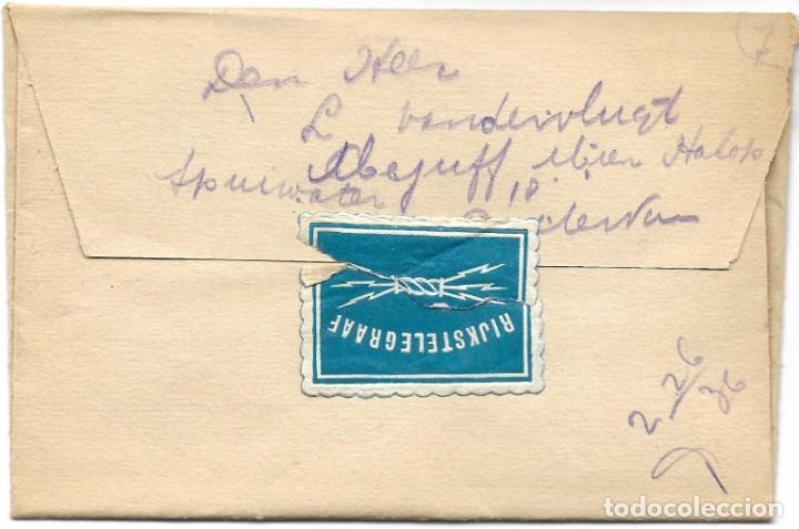 TELEGRAMA DE DORDREENT A ROTTERDAM AÑO 1915 - PRIMERA GUERRA MUNDIAL - SELLO RIJKSTELEGRAAF (Sellos - Extranjero - Europa - Holanda)