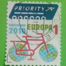 Sellos: NETHERLANDS, HOLANDA. EUROPA, PRIORITY. USED. Lote 198806602