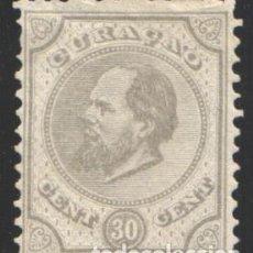 Sellos: COLONIA HOLANDESA, CURACAO 1873 YVERT Nº 8 (*). Lote 200058176