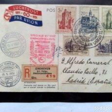 Sellos: POSTAL 1º DIA EMISIÓN (1951) SERIE CASTILLOS,VUELO ESP.,PROGRESO PHILIPS (1891-1951) DESCRIPCIÓN.. Lote 201100195