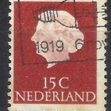Selos: PAISES BAJOS 1953 - REINA JULIANA - SELLO USADO. Lote 204750631
