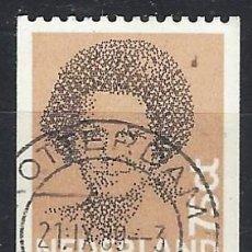 Selos: PAISES BAJOS 1982 - REINA BEATRIZ, PERFORACIÓN EN DOS LADOS - SELLO USADO. Lote 204754852