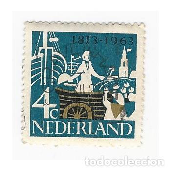 SELLO HOLANDA PAÍSES BAJOS NEDERLAND 1813 1963 4 C (Sellos - Extranjero - Europa - Holanda)