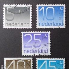 Sellos: SERIE COMPLETA 1976 HOLANDA NÚMEROS. Lote 205324945