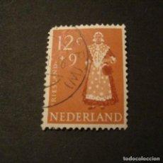 Sellos: HOLANDA 1958, YVERT Nº 688, TRAJES TIPICOS. USADO. Lote 205458242
