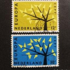 Sellos: HOLANDA, EUROPA CEPT 1962 COMPLETA Y USADA (FOTOGRAFÍA REAL). Lote 205564111