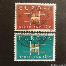 Sellos: HOLANDA, EUROPA CEPT 1963 COMPLETA Y USADA (FOTOGRAFÍA REAL). Lote 205569391