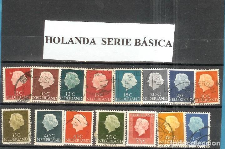 LOTE DE SELLOS DE HOLANDA. SERIE BÁSICA (Sellos - Extranjero - Europa - Holanda)