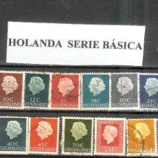 Sellos: LOTE DE SELLOS DE HOLANDA. SERIE BÁSICA. Lote 205866580