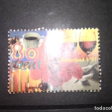 Timbres: HOLANDA 1997. FLOWER, COFFEE CUP, WHINE GLASS, CANDLES AND WRITING HAND. MI:NL 1617, (A292). Lote 209616835