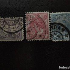 Sellos: HOLANDA SET DE 3 V. (246). Lote 210751786