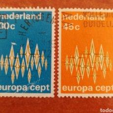 Francobolli: HOLANDA, EUROPA CEPT 1972 USADA (FOTOGRAFÍA REAL). Lote 212501321