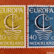 Francobolli: HOLANDA, EUROPA CEPT 1966 USADA (FOTOGRAFÍA REAL). Lote 212580928