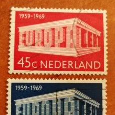Francobolli: HOLANDA, EUROPA CEPT 1969 USADA (FOTOGRAFÍA REAL). Lote 212631182