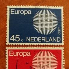 Francobolli: HOLANDA, EUROPA CEPT 1970 USADA (FOTOGRAFÍA REAL). Lote 212637033