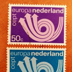 Francobolli: HOLANDA, EUROPA CEPT 1973 USADO (FOTOGRAFÍA REAL). Lote 213329858