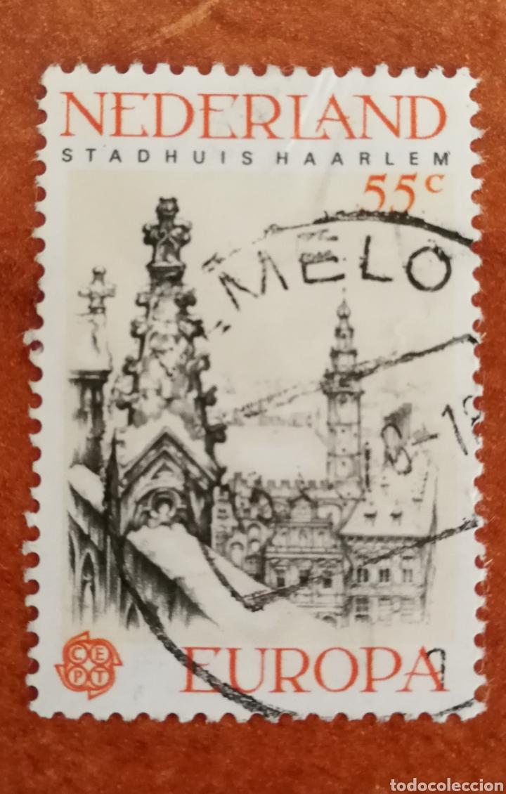 HOLANDA, EUROPA CEPT 1978 USADO (FOTOGRAFÍA REAL) (Sellos - Extranjero - Europa - Holanda)