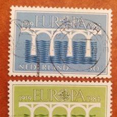 Sellos: HOLANDA, EUROPA CEPT 1984 USADA (FOTOGRAFÍA REAL). Lote 213696451