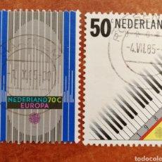 Sellos: HOLANDA, EUROPA CEPT 1985 USADA (FOTOGRAFÍA REAL). Lote 213701656