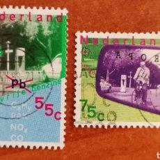 Sellos: HOLANDA, EUROPA CEPT 1988 USADA (FOTOGRAFÍA REAL). Lote 213720450