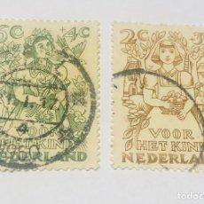 Sellos: SELLOS HOLANDA VOOR HET KIND 1917 APROX.. Lote 214572012