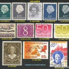 Sellos: HOLANDA 1948 A 1982 - LOTE VARIADO (VER IMAGEN) - 12 SELLOS USADOS. Lote 218244938