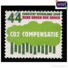 Sellos: HOLANDA PAÍSES BAJOS 2008. MICHEL 2556, YVERT 2481. COMPENSACIÓN DE CO2. USADO. Lote 218505028