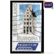 Sellos: HOLANDA PAÍSES BAJOS 2012. MICHEL 2940, YVERT 2867. EUROPA. CASA DE DRIE HARINGEN, DEVENTER. USADO. Lote 218505293