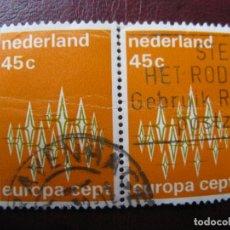 Sellos: +HOLANDA, 1972, EUROPA, YVERT 959. Lote 221814450