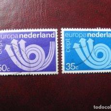 Sellos: +HOLANDA, 1973, EUROPA, YVERT 982/83. Lote 221814647