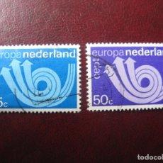 Sellos: +HOLANDA, 1973, EUROPA, YVERT 982/83. Lote 221814858